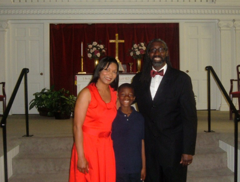Rev. Powell, Associate Pastor, and Family
