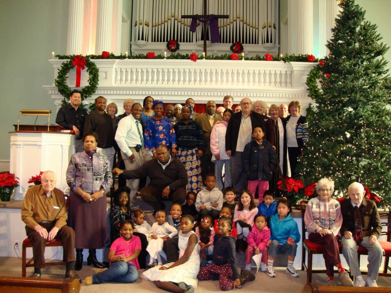 Congregation at Christmas