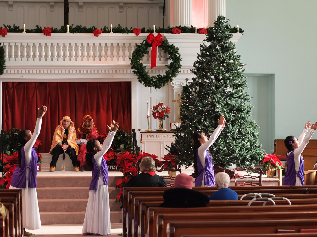 Praise Dance on Christmas Sunday